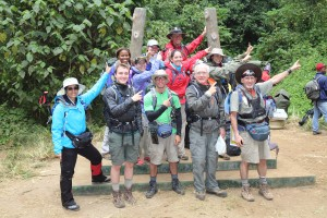 ready, set, CLIMB FOR CLEAN WATER! The team at the trailhead!