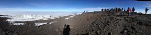 Gorgeous glaciers on the way to Uhuru Peak